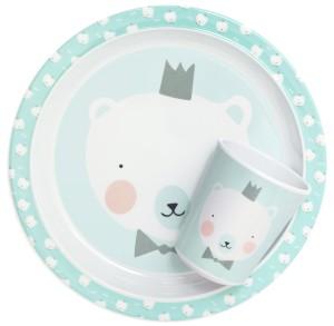 melamine-plate-cup-polar-bear-bow