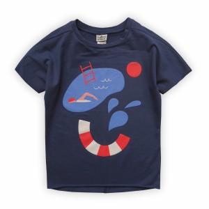 Detske triko tmave modrá dívčí 1